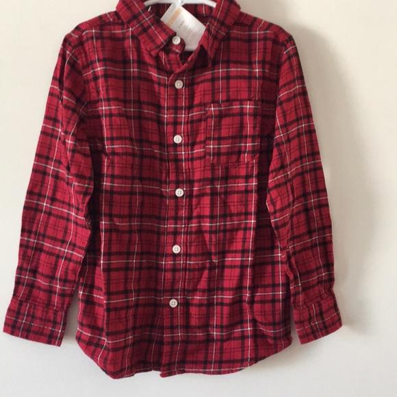 b5c867771 NWT Gymboree Red Plaid Flannel Shirt 5/6 Boy NWT